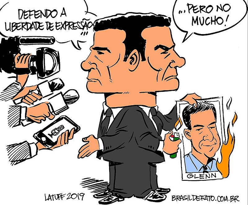 Ex-juiz Sérgio Moro diz uma coisa mas faz outra na prática quando a questão é liberdade de imprensa