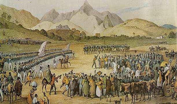 Tropas imperiais rumo ao Maranhão para reprimir a revolta.