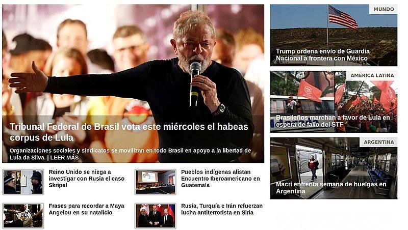 Diversos meios de comunicação pelo mundo trazem em destaque o julgamento do Habeas Corpus de Lula no STF