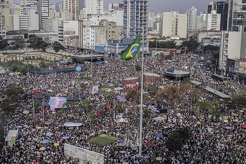"""Manifestação """"Ele Não"""" em São Paulo (SP), durante as eleições presidenciais"""