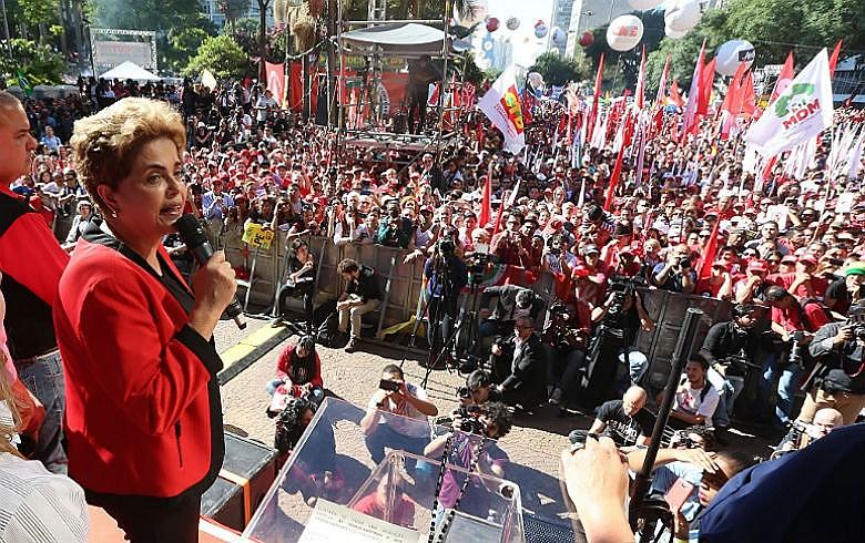 Dilma no 1º de Maio em São Paulo: aceno tímido à reforma tributária, reivindicação histórica dos trabalhadores