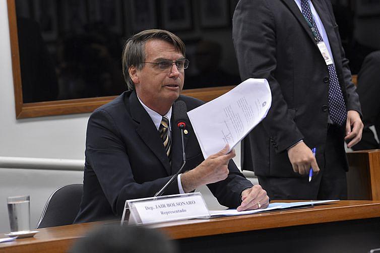 Jair Bolsonaro já responde a duas ações penais no Supremo, por ofensas à deputada federal Maria do Rosário, do PT.