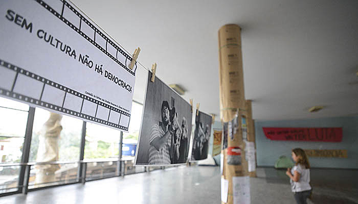 Ocupação do prédio do Ministério da Cultura, no Rio de Janeiro