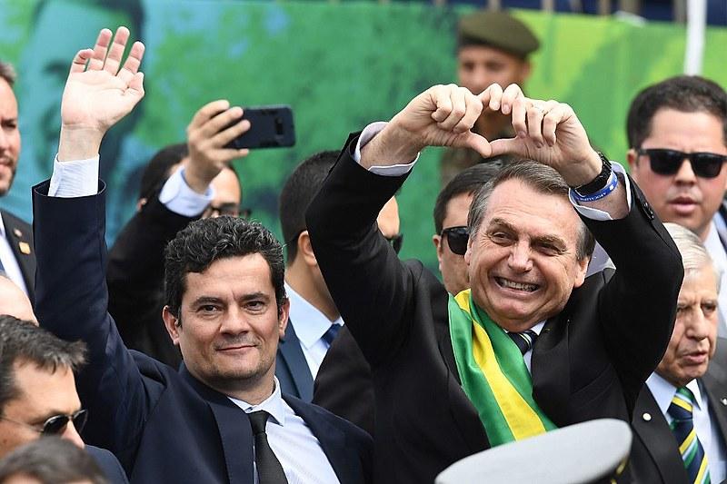 Sergio Moro abandonou a magistratura para fazer parte do governo de Jair Bolsonaro, no qual ocupa o cargo de ministro da Justiça