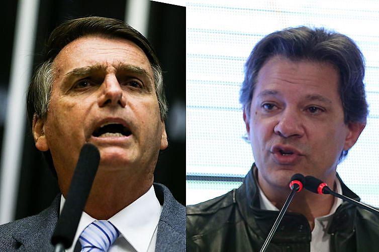 Fernando Haddad (PT) e Jair Bolsonaro (PSL) se enfrentam no segundo turno das eleições presidenciáveis, dia 28 de outubro