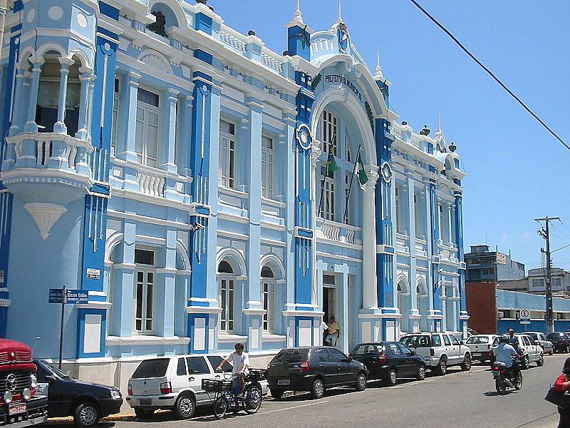 Palácio Felipe Camarão, prédio sede da Prefeitura Municipal do Natal, localiza-se na Cidade Alta