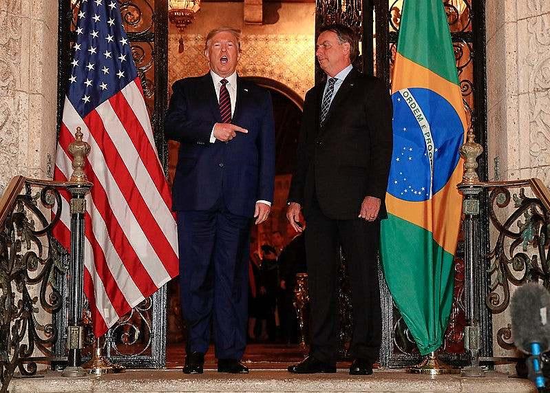 Bolsonaro e Trump nos EUA