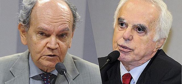 El embajador Guimarães Neto y el investigador Guilherme Costa Delgado participaron en el seminario.