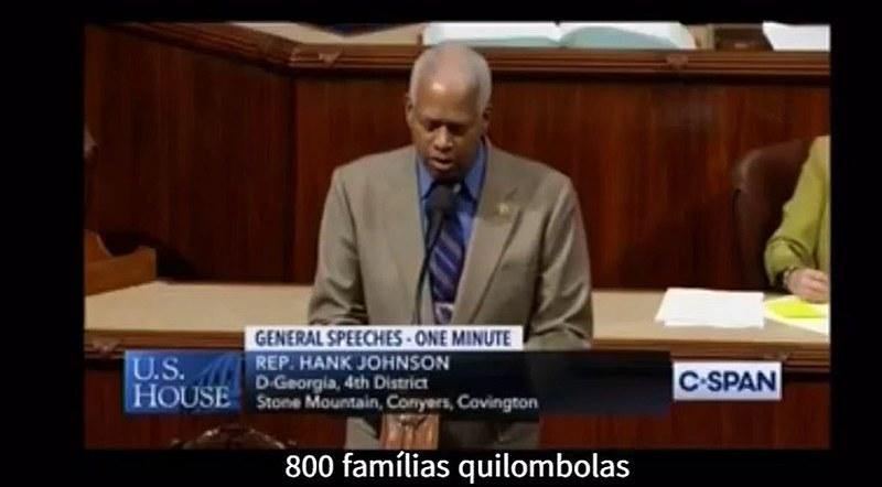 O deputado estadunidense Hank Johnson usou a tribuna do Congresso para criticar o acordo entre Brasil e EUA