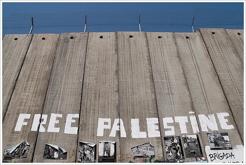 Intervenção em Belém, na Cisjordânia, pede liberdade à Palestina